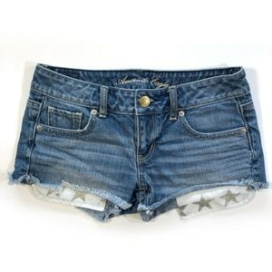American Eagle Cut Off Jean Shorts Low Rise
